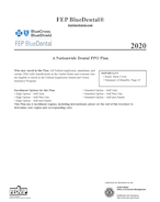 2020 FEP BlueDental Brochure